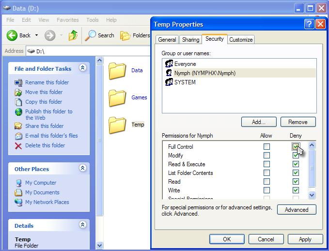 Cara Mengunci Lock File Folder Dengan Privilege Level Imperial